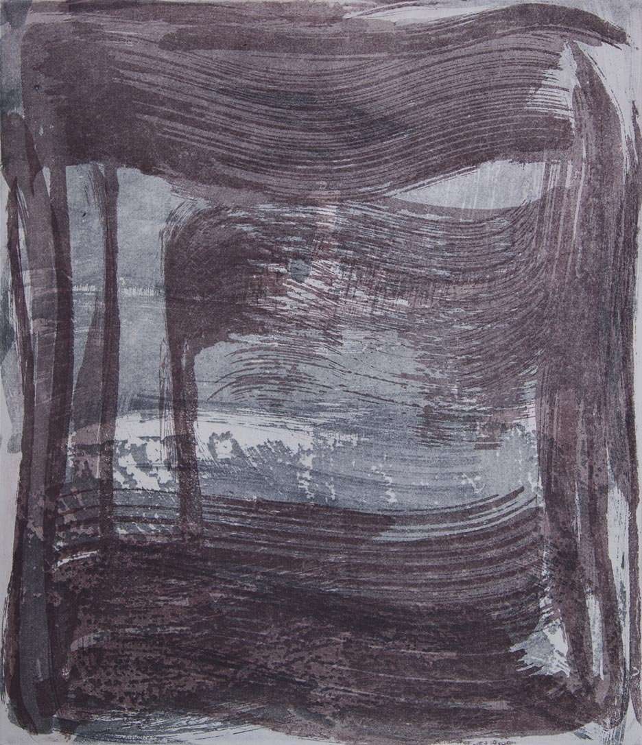 Broad Strokes 5 , 2018 Etching monotype  image/plate size 14 x 12 in. Sheet size 24 x 22 in.