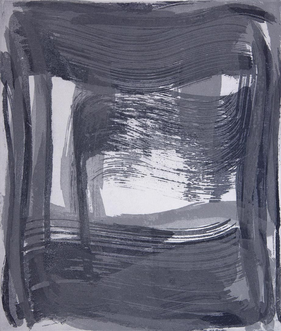 Broad Strokes 9 , 2018 Etching monotype  image/plate size 14 x 12 in. Sheet size 24 x 22 in.