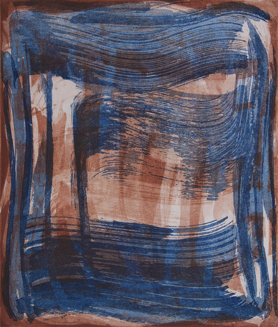 Broad Strokes 10 , 2018 Etching monotype  image/plate size 14 x 12 in. Sheet size 24 x 22 in.