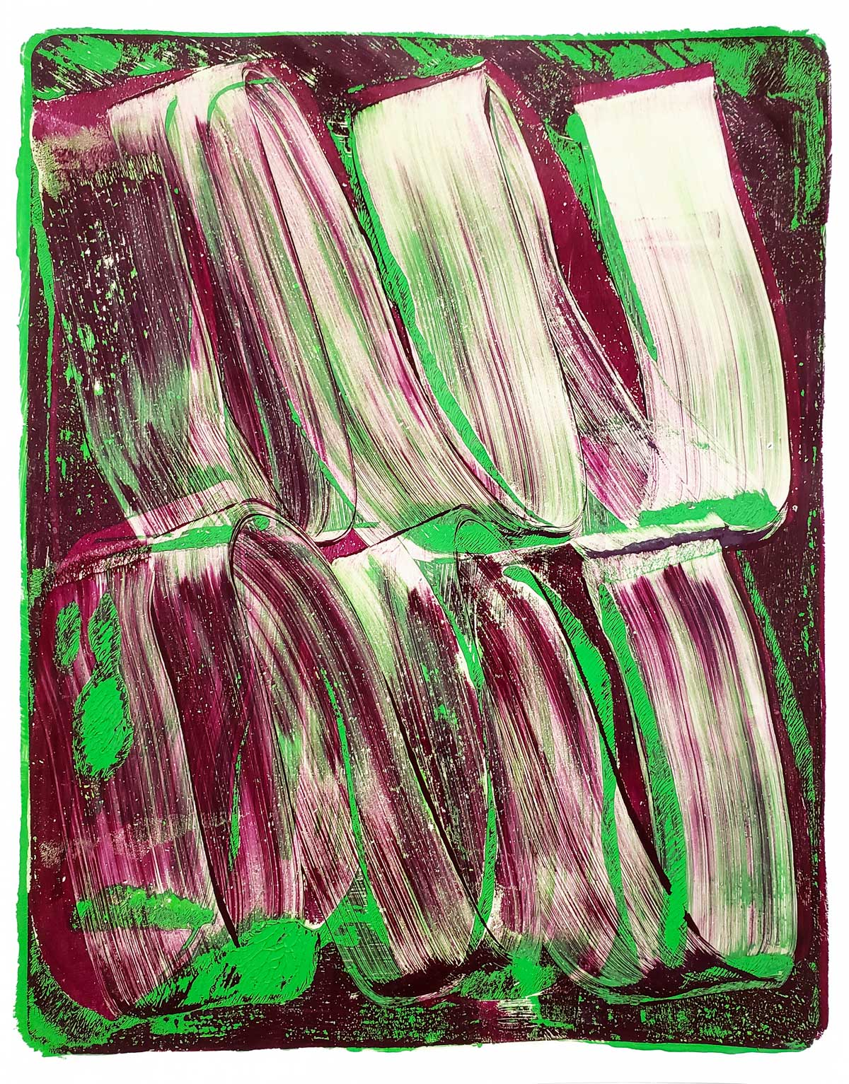 Gestural 22 , 2019, Monotype, 11 x 8.5 in.