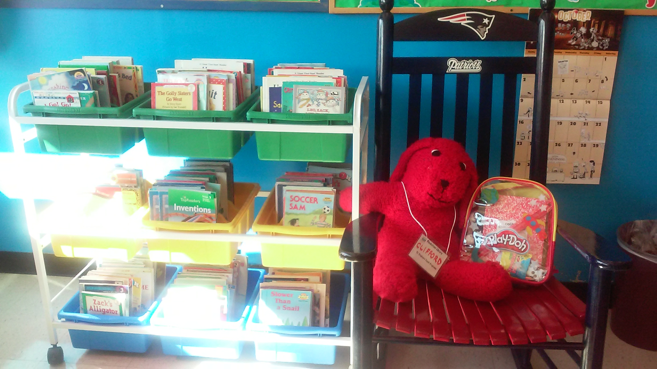 Clifford, the library's mascot