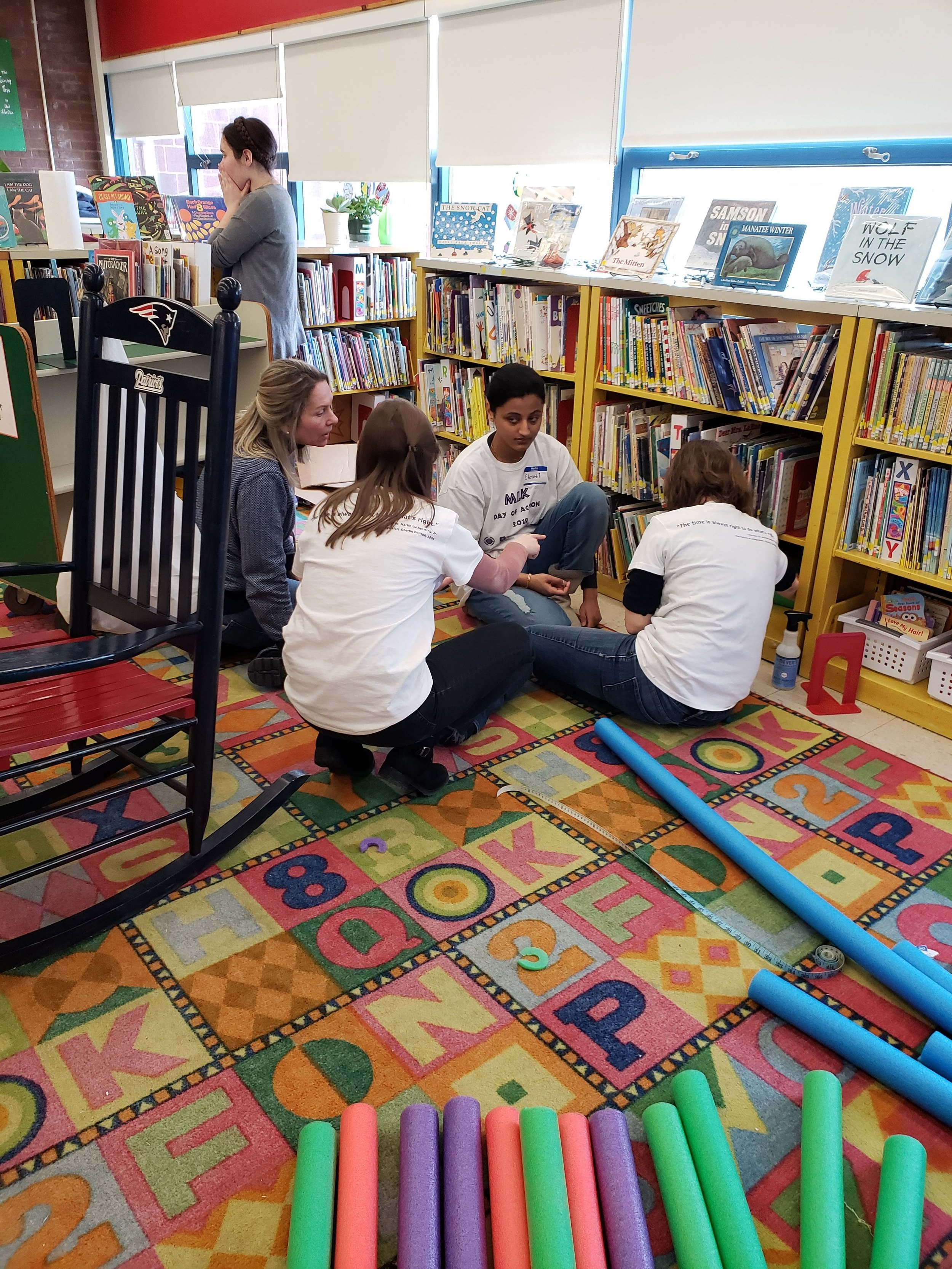 Volunteers improve shelving in Blackstone Library