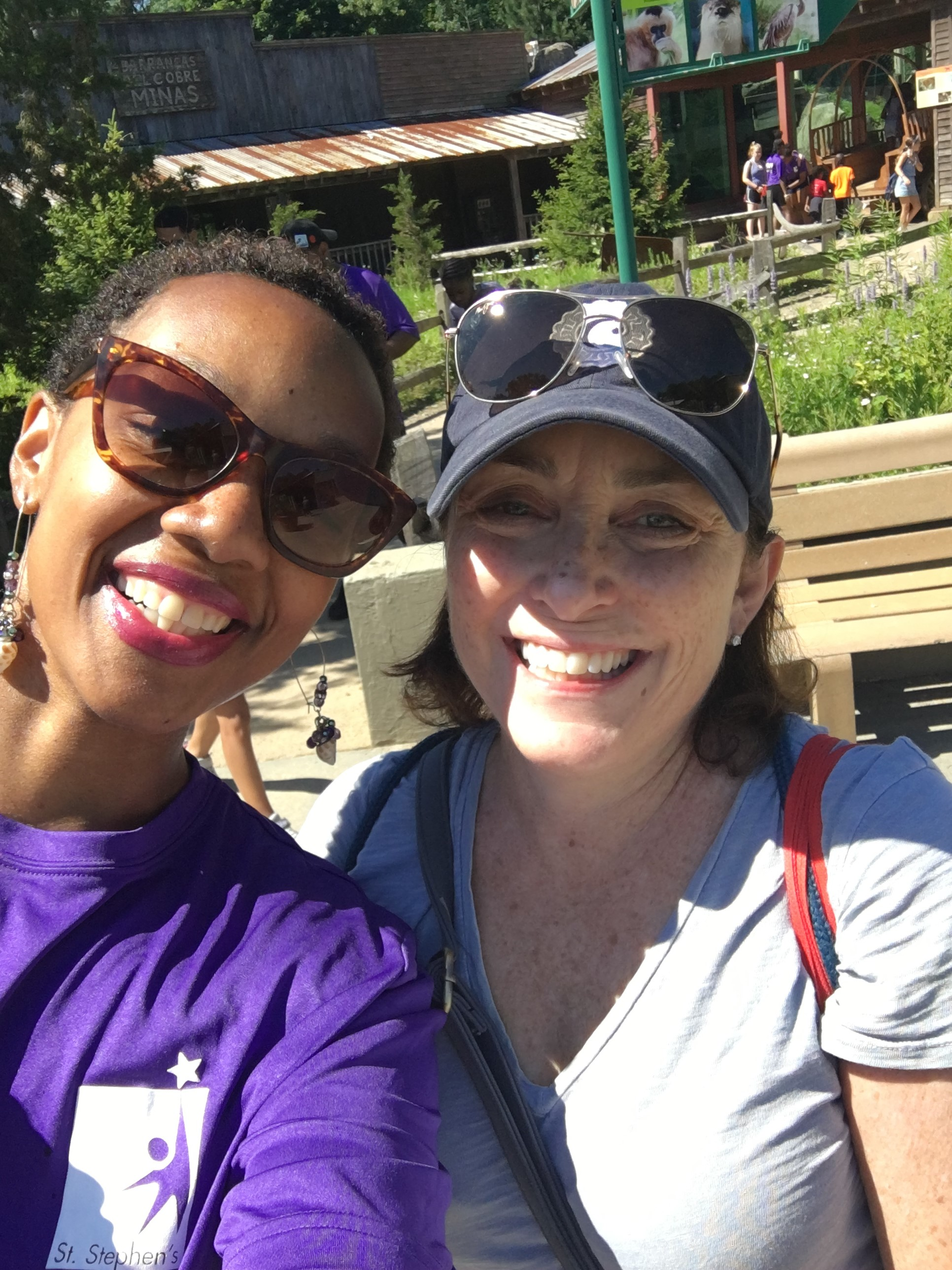 Site Manager Asjah Monroe with Christ Church, Cambridge leader Susan Root