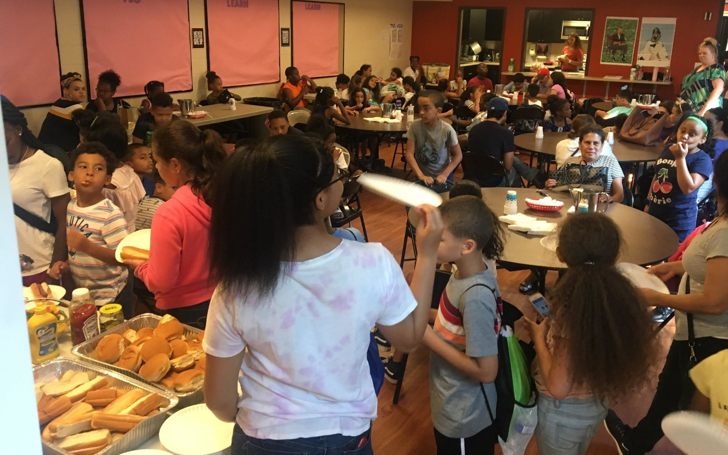 Family barbecue at B-SAFE at St. Stephen's in the South End