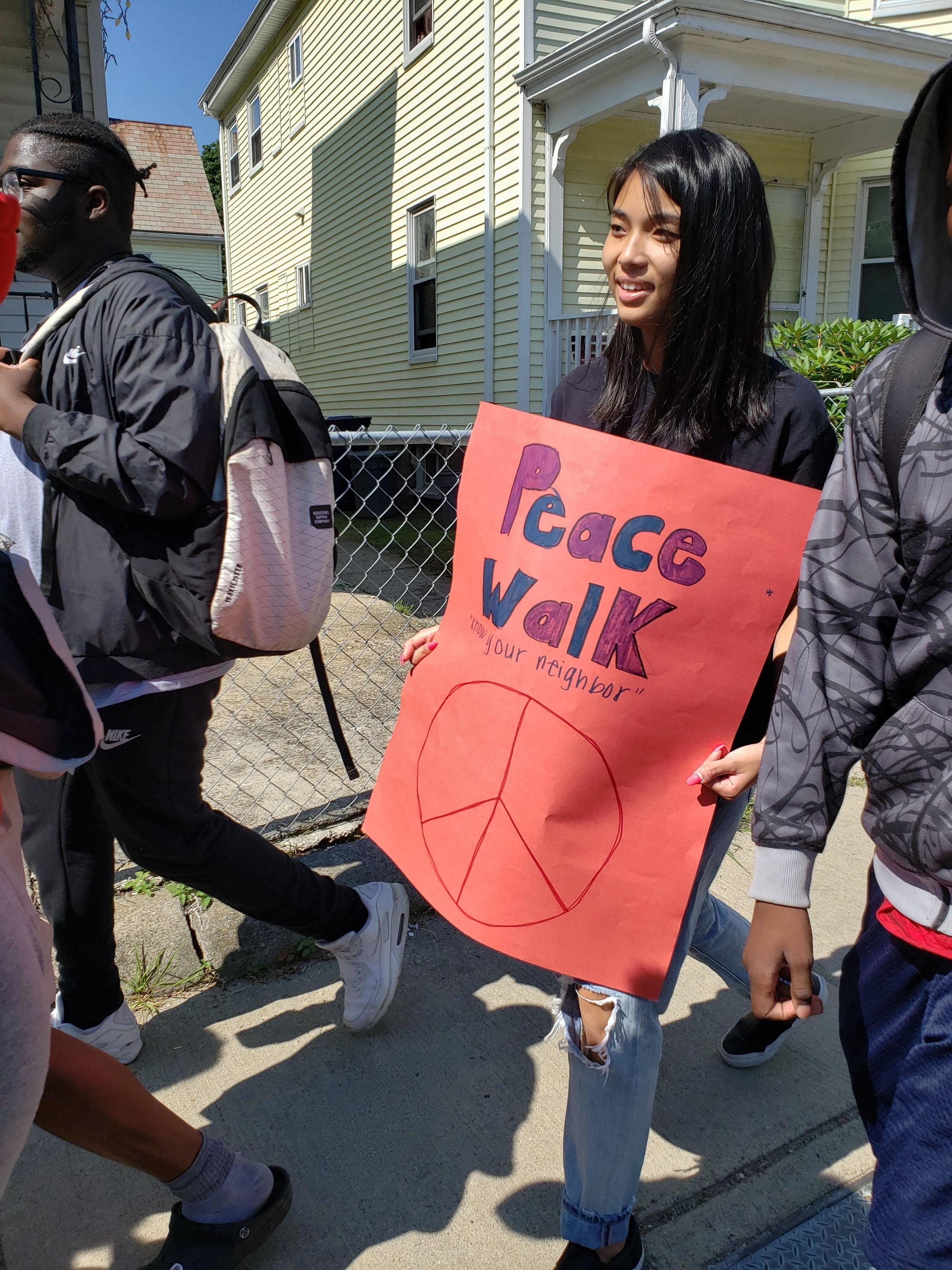 B-Power's Community Love Walk through Codman Square area