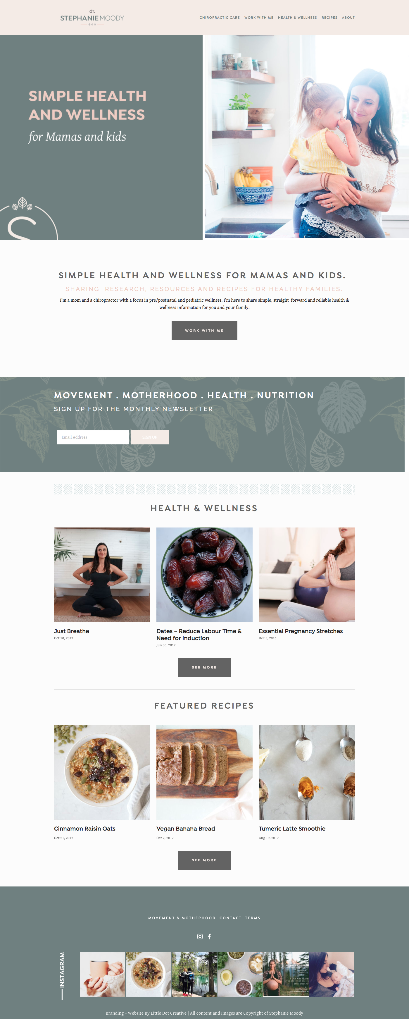 Dr. Stephanie Moody Branding and Squarespace Website Design By Little Dot Creative