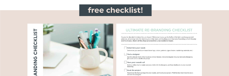 Your all-in-one Rebranding Checklist
