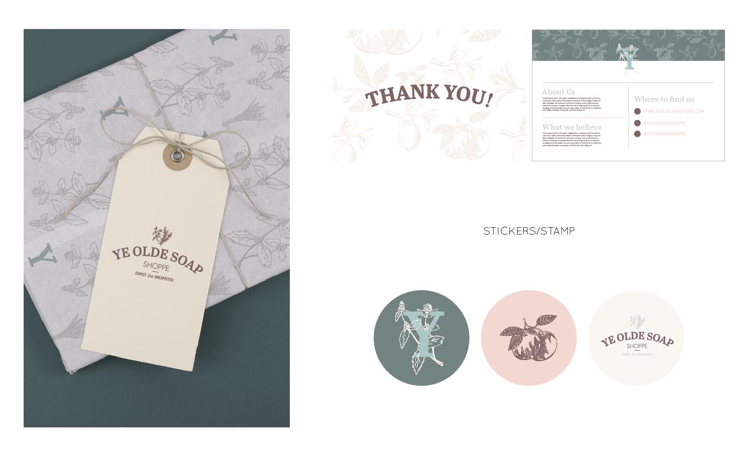 Ye Olde Soap Shoppe Branding and Squarespace Website Design on Little Dot Creative