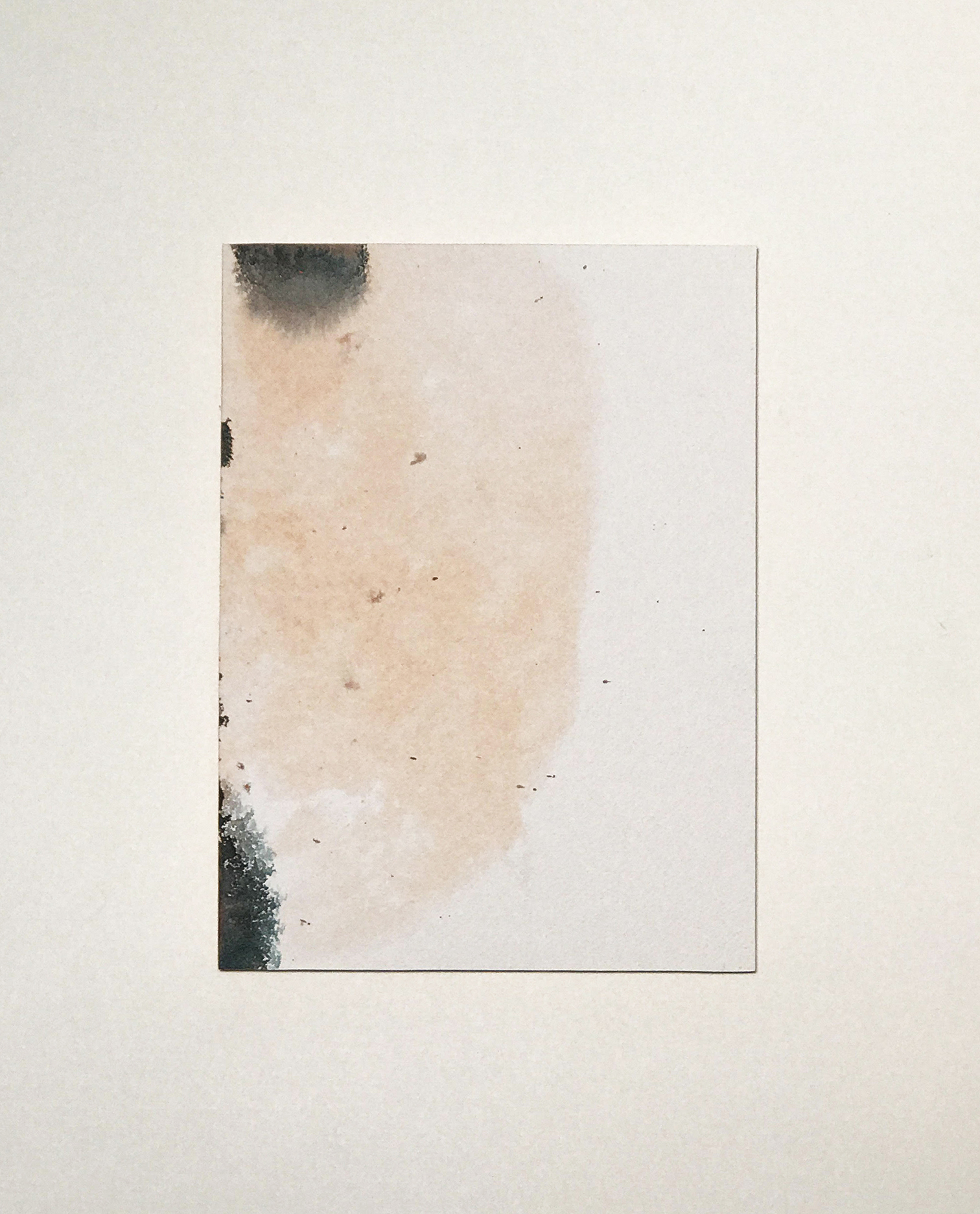 """Spilling Blood no. 3, back of   12"""" x 9"""" watercolor on paper"""