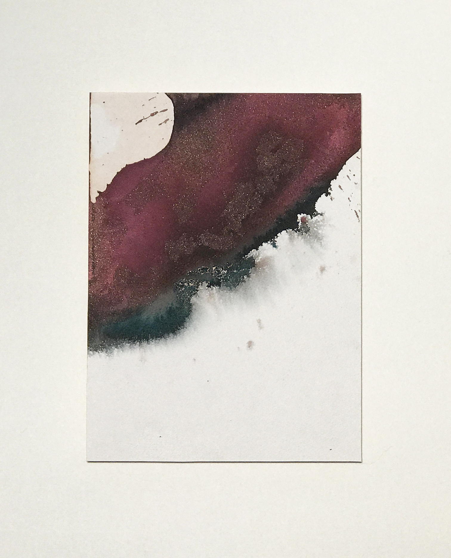 """Spilling Blood no. 4   12"""" x 9"""" watercolor on paper"""