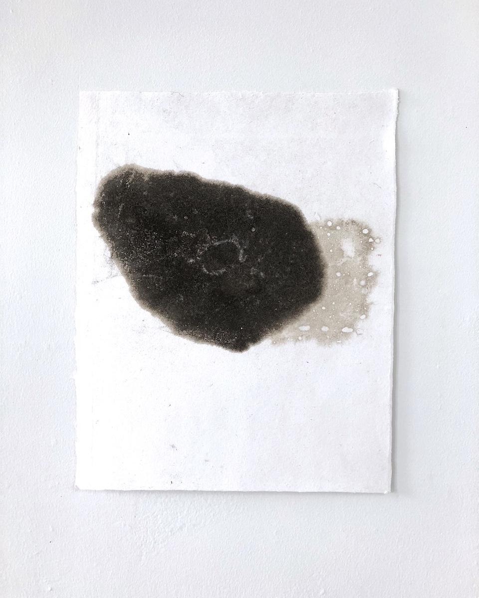 "Icelandic Sand Pour, no. 4   14"" x 11"" Icelandic sand on handmade cotton paper"
