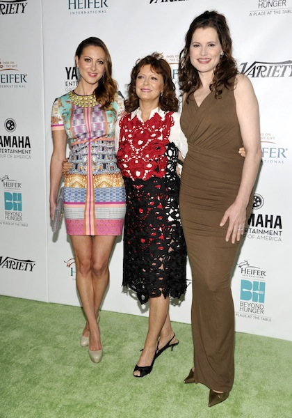 Eva Amurri Martino, Susan Sarandon, and Geena Davis © John Sciulli/Getty Images for Heifer International