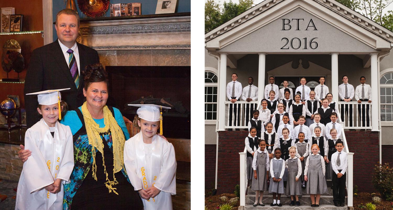 Congrats, kindergarten graduates, Joelle and Madison.