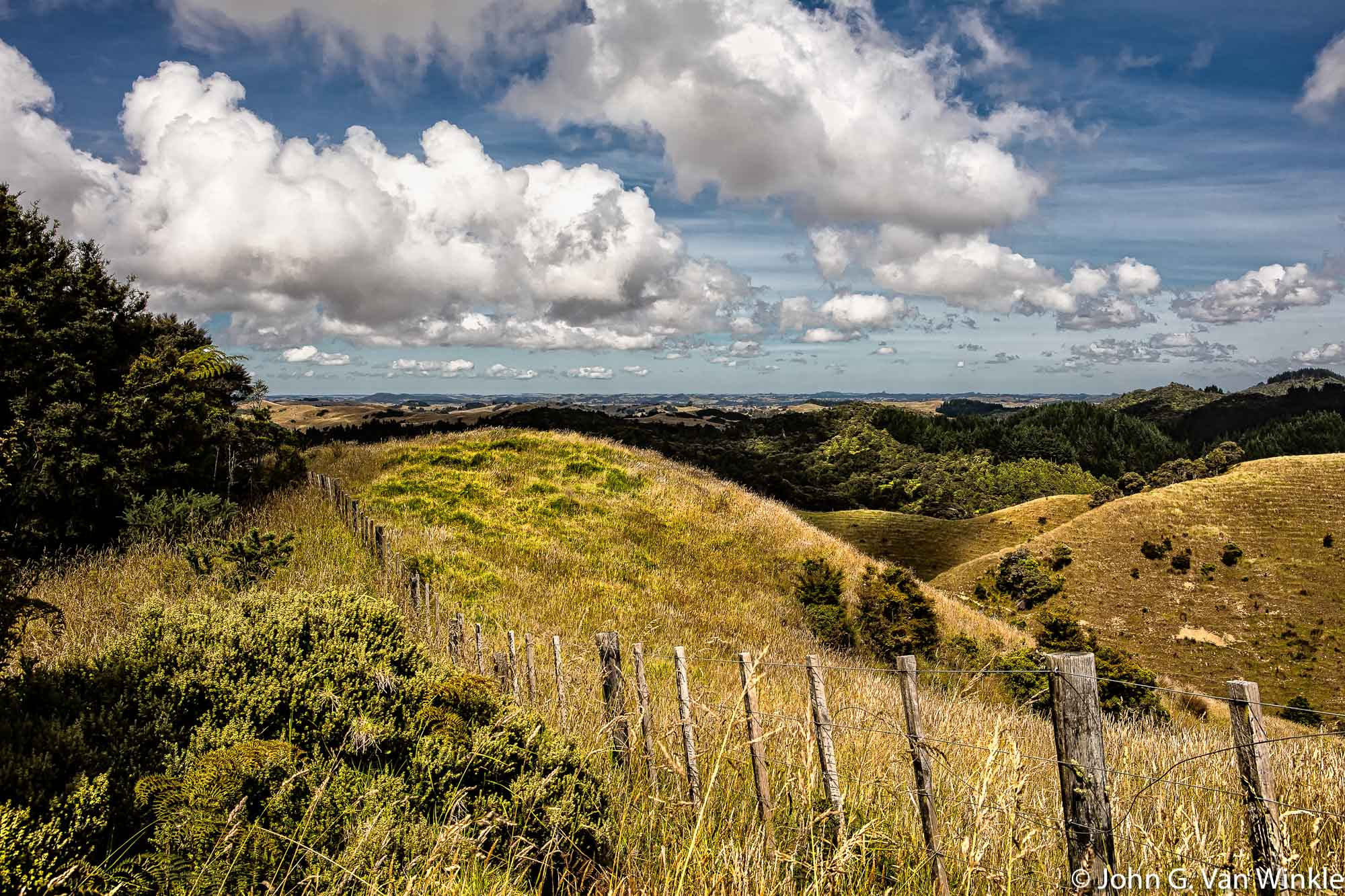Hills and Clouds, North Island, New Zealand