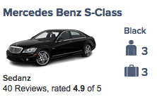 Sedanz rating on limos.com. The highest rated based on reviews