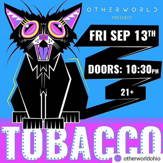 Gig poster for @otherworldohio and @tobaxxo. Theirs is way funnie but I had fun with this one. Check them out Friday the 13th! . #gigposter #illustration #fridaythe13th #blackcat #tobacco #tobaxxo #art #graphicdesign #columbusart #adobeillustrator #illustrator #vector #vectorart #cat #psychedelic