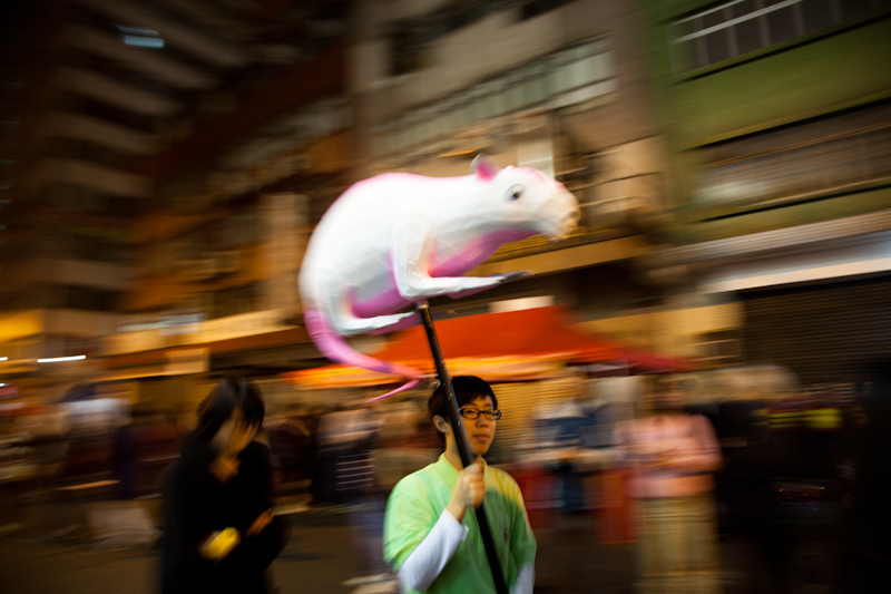 Chinese New Year celebrations in Tai Kok Tsui, Hong Kong, January 2012.