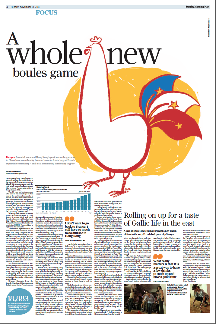 Focus page French community HK SCMP
