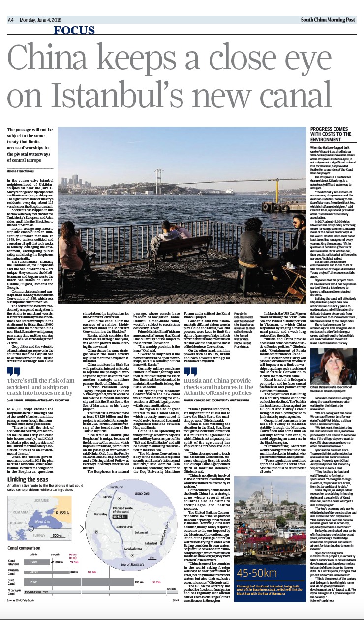 SCMP Canal Istanbul focus page 03/06/2018