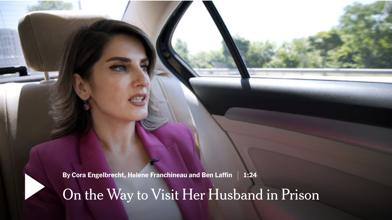 New York Times (July 2018) - Every week, Basak Demirtas, Selahattin Demirtas' wife, travels the length of the country and back — about 2,000 miles — to talk to her husband through a window in the high-security prison at Edirne in western Turkey. (Videographer).