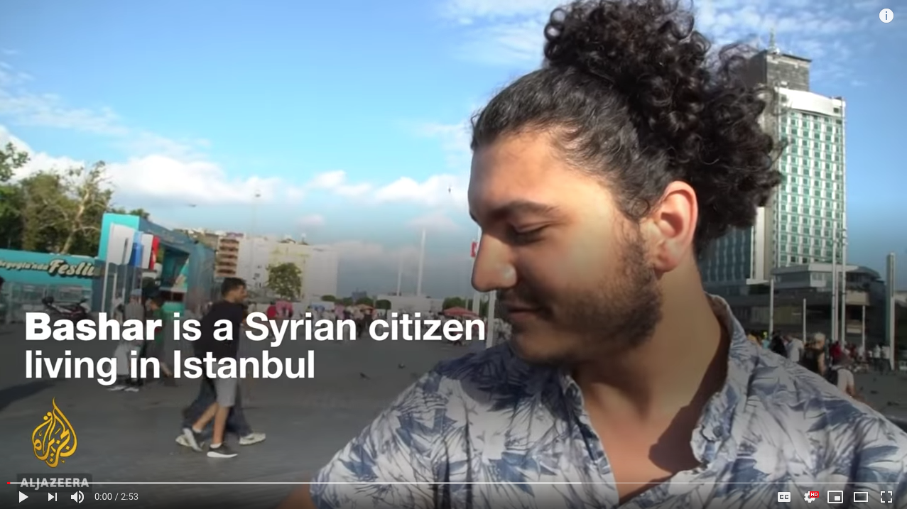 Al Jazeera English (September 2018)Travel ban: Syrian American couple in Turkey hope to return to US - I filmed this video for Al Jazeera English in the summer of 2018: Kathryn and Bashar, an American woman and Syrian man - are married and are living in Turkey. They are unable to settle in the US due to the travel ban. But despite their unstable situation, Istanbul has become a home for the couple. The video was published on Al Jazeera's Youtube and Facebook pages.Update 2019: Bashar obtained a visa waiver and was able to travel to the US to be reunited with Kathryn :)