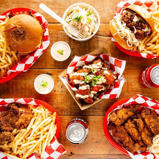 Family feasts and meal deals now available on UberEats. Just in time to celebrate National Fried Chicken day this Saturday!!! Open Thu-Sun 11:30am-9pm.