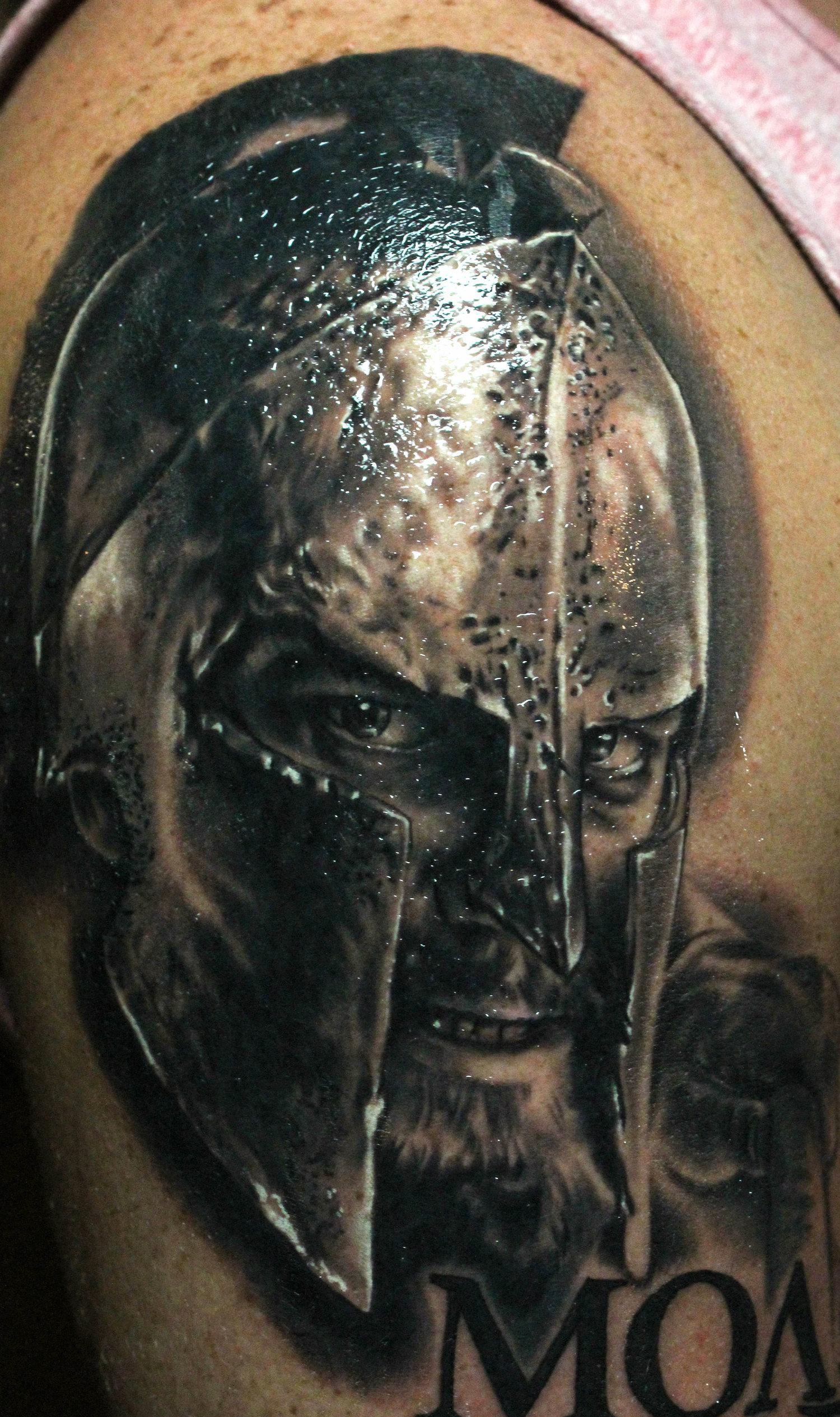 molon labe spartan tattoo