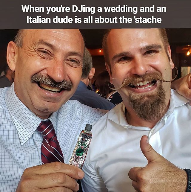 This! At a wedding right now and someone's envious 🤣�� #mustachedj #weddingdj #mustachemodel #sandiego #luceloftwedding