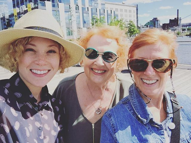 3 generations of badass women...on a pier...in Brooklyn...lovin life...and each other ✌🏻😎 #vegan #strength #behappy #veganforfit #findyourhappy