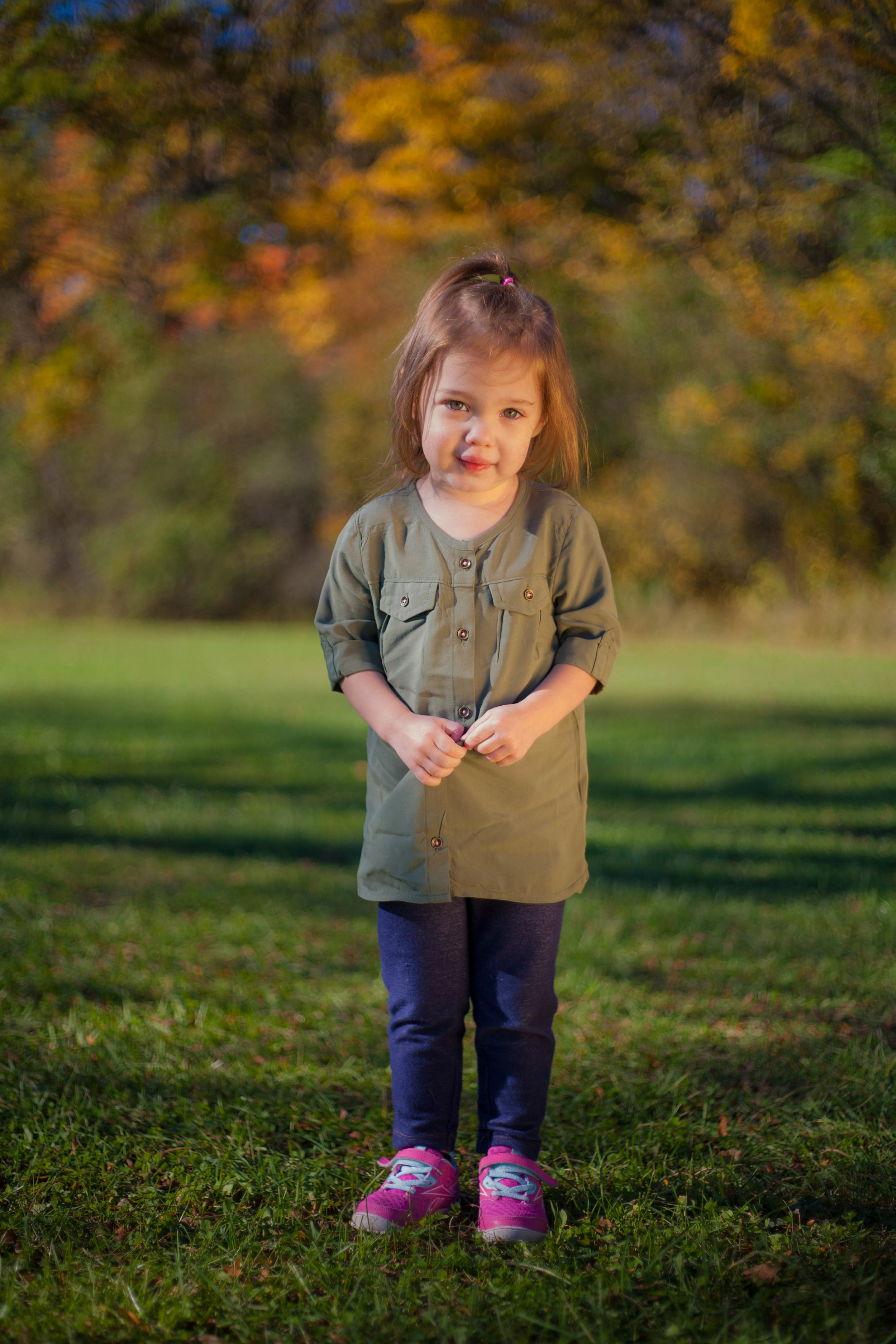 Fall child portrait session in Chicago suburbs