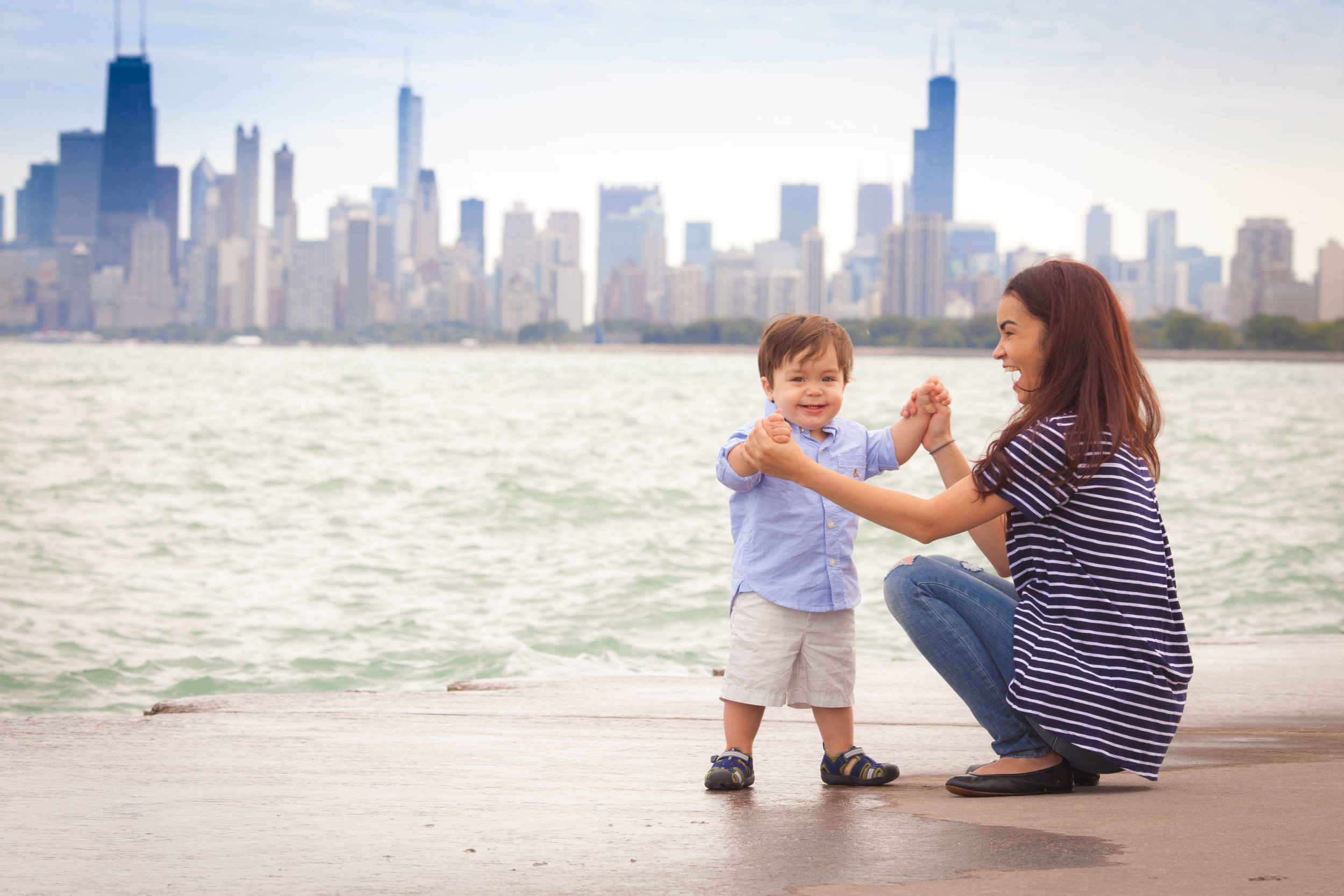 Chicago Family Photographer Montrose Harbor