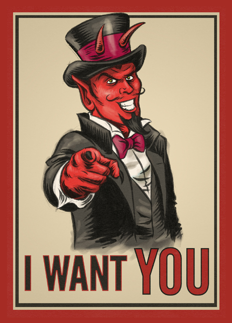 I want you postcard
