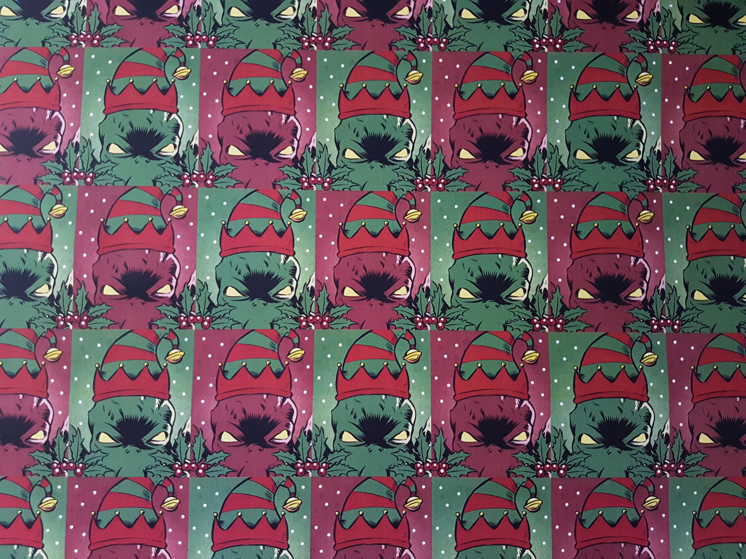 Cthulhu Festive Wrapping Paper