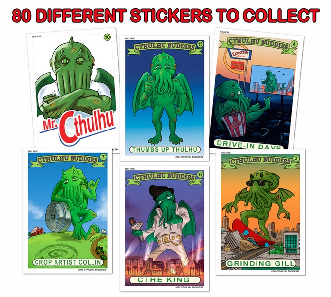 Cthulhu Buddie Stickers