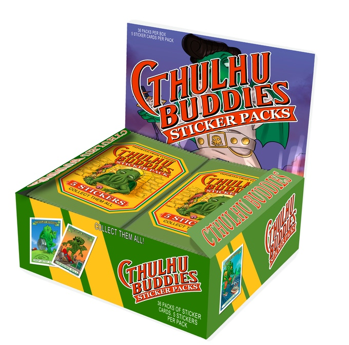 A Box Of Cthulhu Buddie Sticker Packs