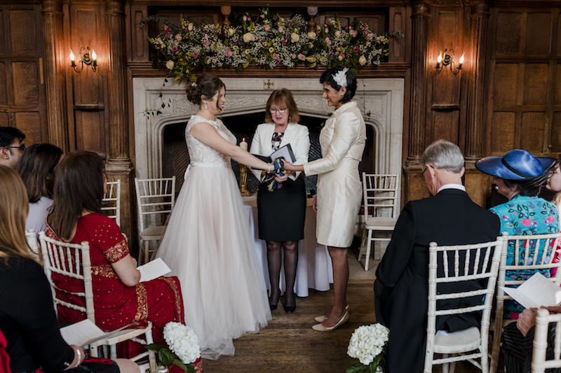 """""""We wanted a ceremony that brought together our lives and heritage (British and Indian) in a beautiful and meaningful celebration of our marriage – Annie was the perfect choice for this."""" - Alexandra & Simran – Spring 2018"""