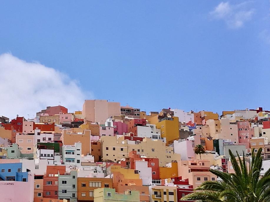 Fra San Juan i Las Palmas, Spania. (Bildet er redigert i ettertid til ønsket fargeopplevelse). Foto: Julie Kirkeng