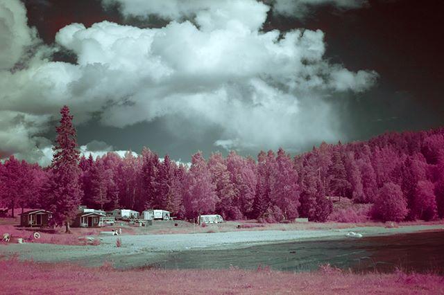Infrared photo. Around Högakusten.