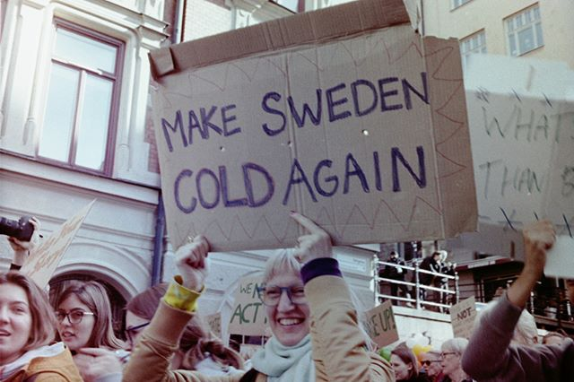 Part II: Climate change protest in Stockholm through a 35mm camera. ⁣⁣⁣I develop my own films.⁣⁣ ⁣⁣⁣⁣⁣⁣⁣⁣⁣⁣ ⁣⁣⁣⁣⁣#fridaysforfuture #climatechange #climatestrike #globalclimatestrike #globalwarming #protest #climatestrikestockholm #stockholm #minoltahimaticf #35mmphotography #35mmstreetphotography #streetphotography #nonbinaryphotographer #analogphotography #photojournalism #storyofthestreet #urbanphotography  #c41process