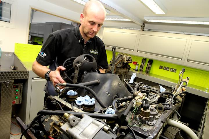 Precision Porsche mechanic