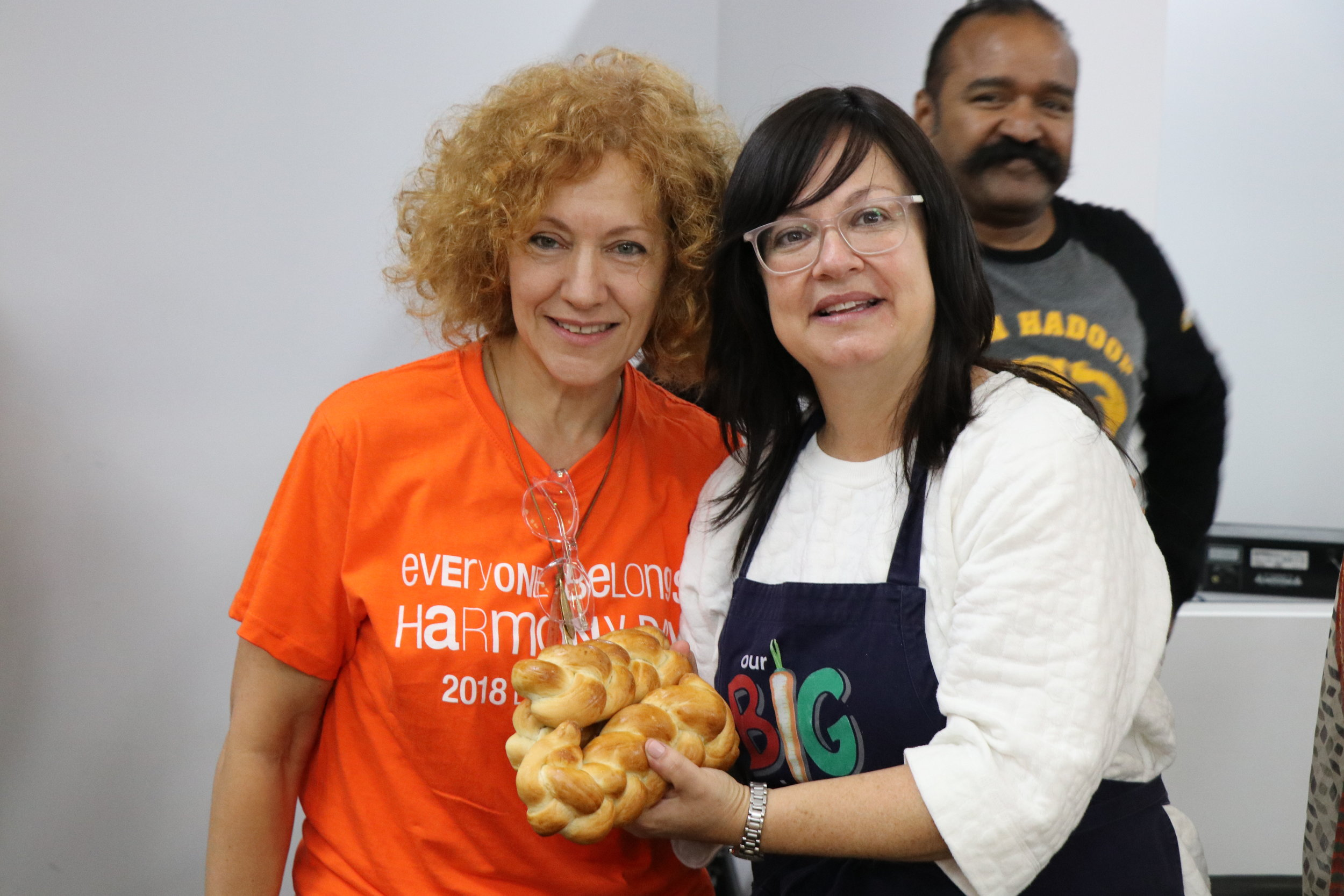 Judy Friedlander of FoodFaith and Rebbitzin Laya Slavin of Our Big Kitchen.Image courtesy of Naomi Shore