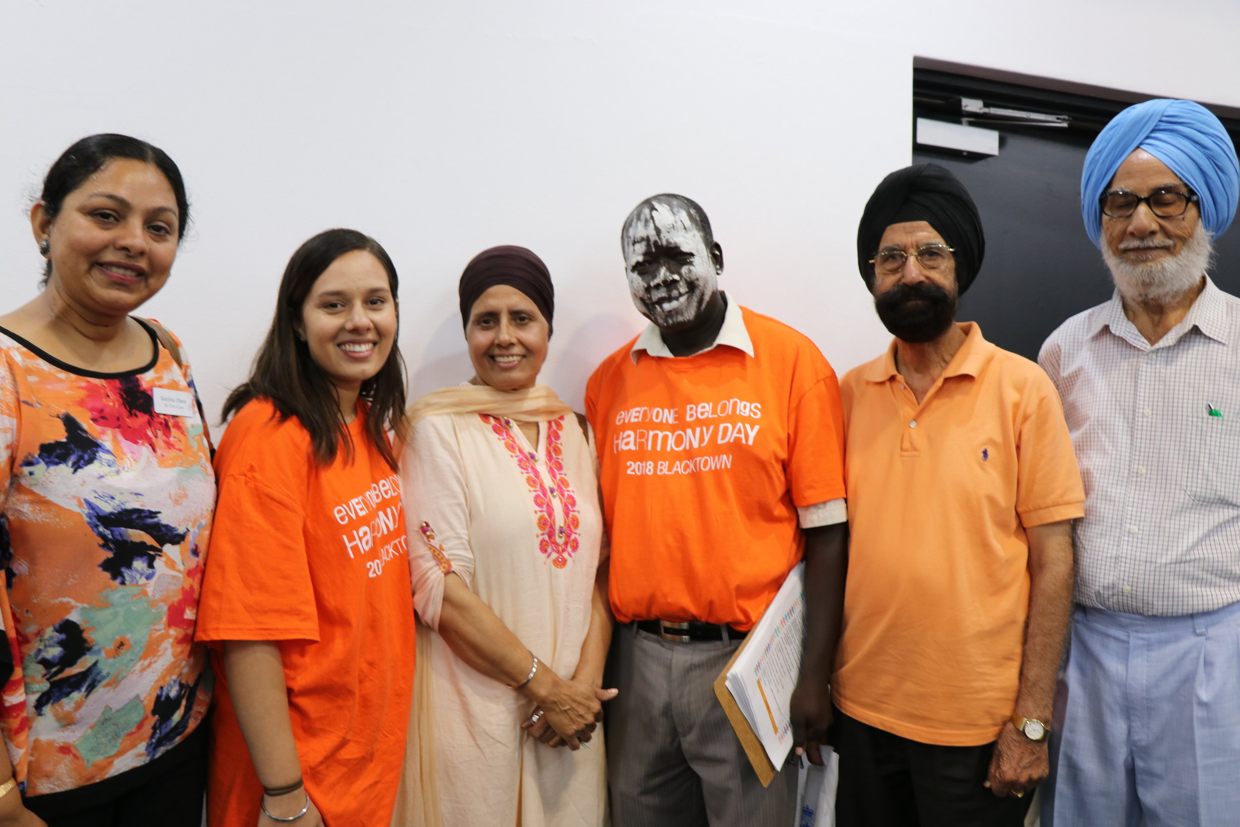 Members of the Harman Foundation with SydWest's Abulla Agwa.Image courtesy of Naomi Shore