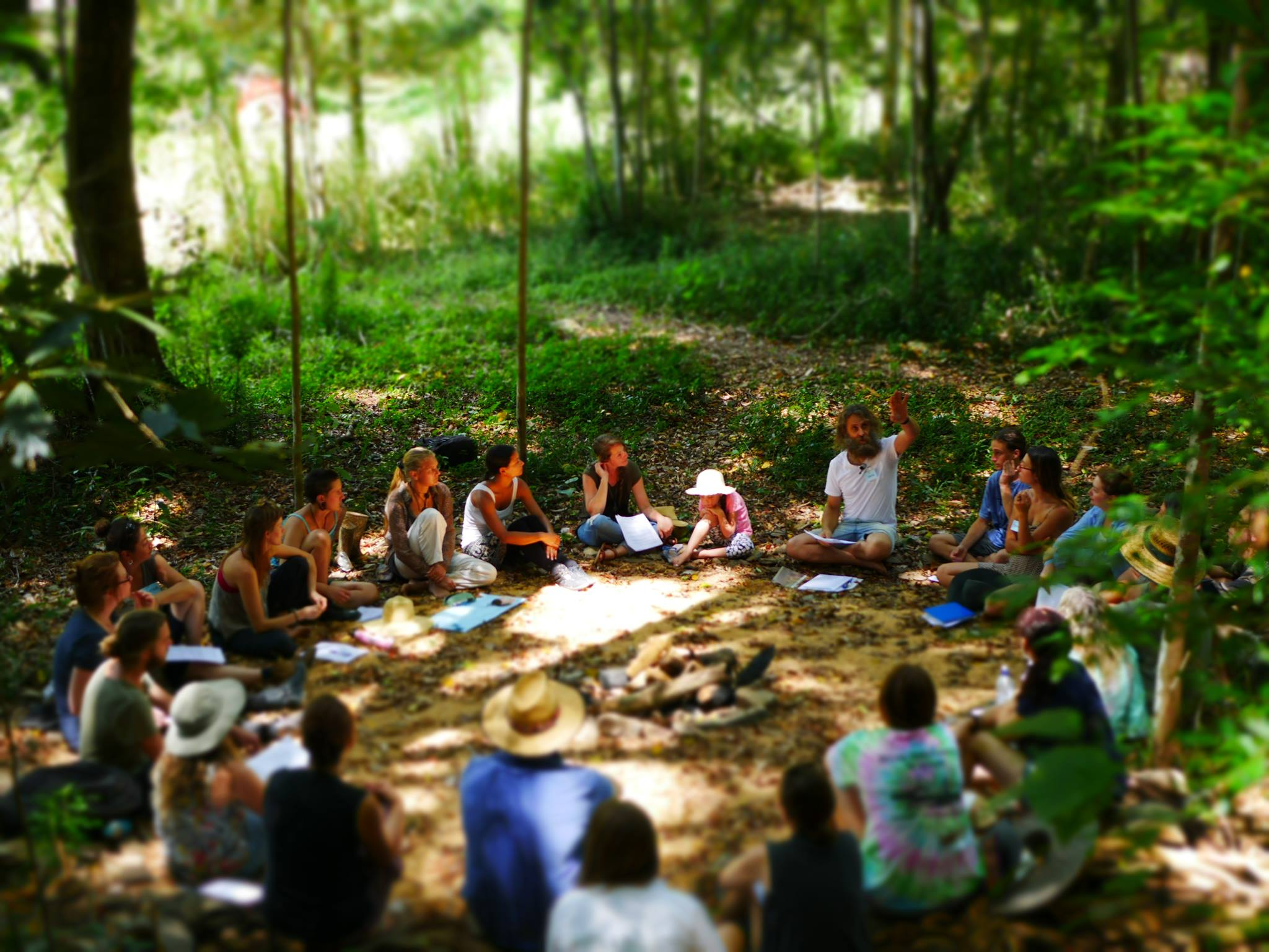 Ian Trew leads permaculture lessons at Noosa Forest Retreat