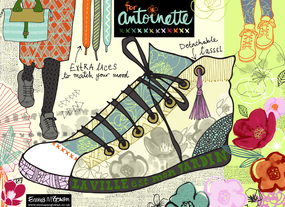 Sneakers for Antoinette, my Round 1 entry © Emma McGowan