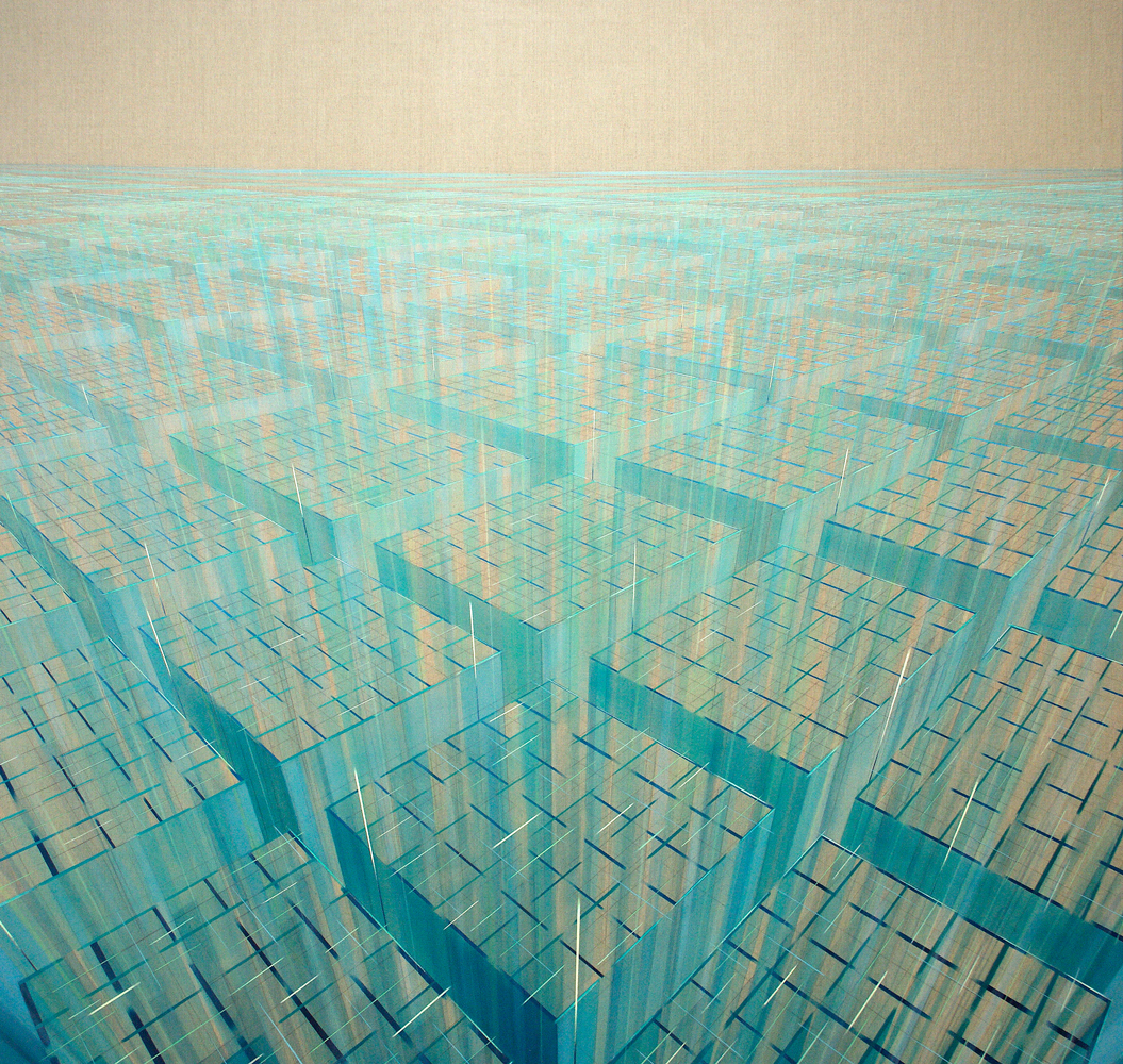 Expanding Future,  190x180cm, 2016 Acrylic on canvas