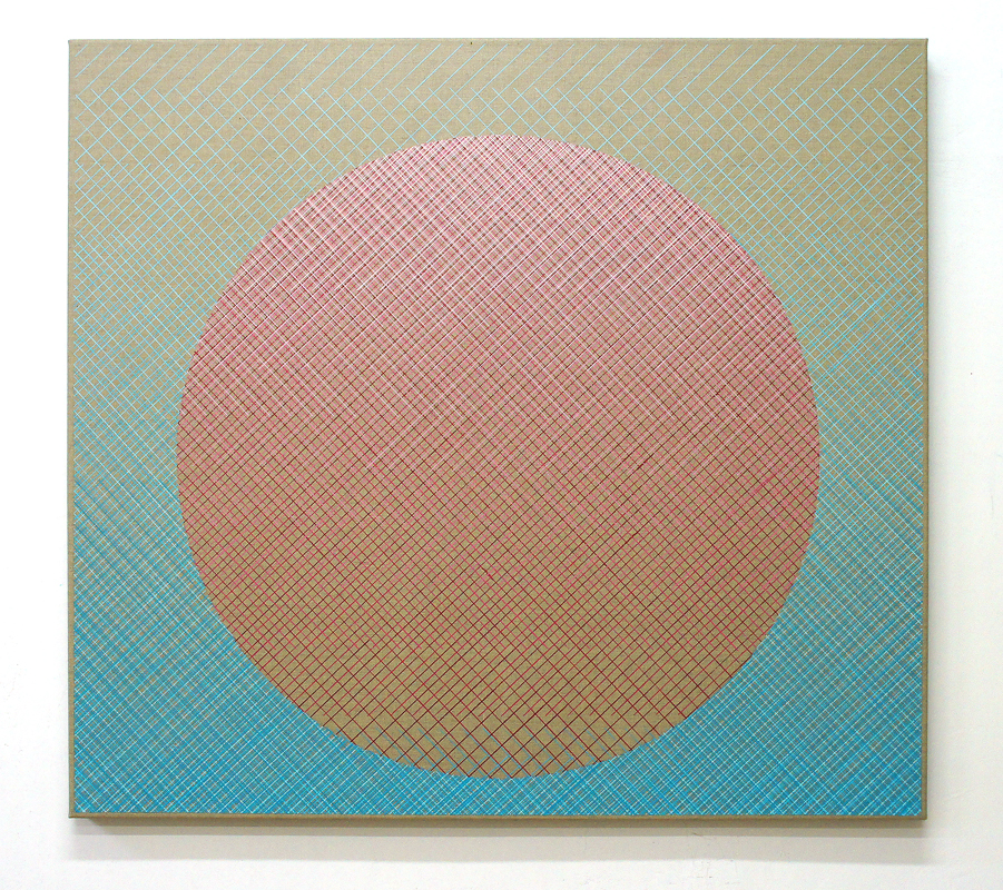 Restoring Point, 100x110cm, 2016 Acrylic on canvas