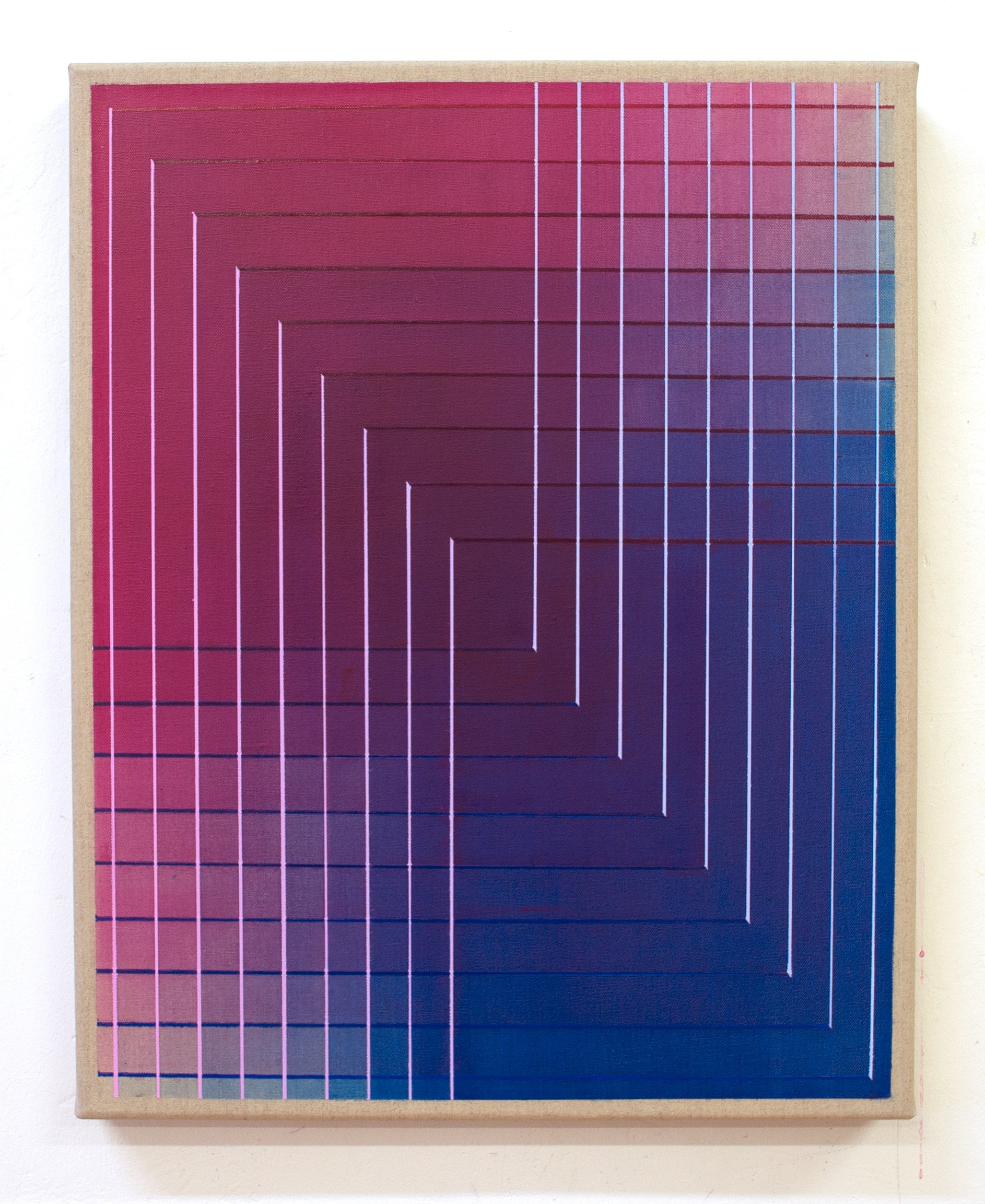 Interaction No.4 50x40cm, 2018 Acrylic on canvas