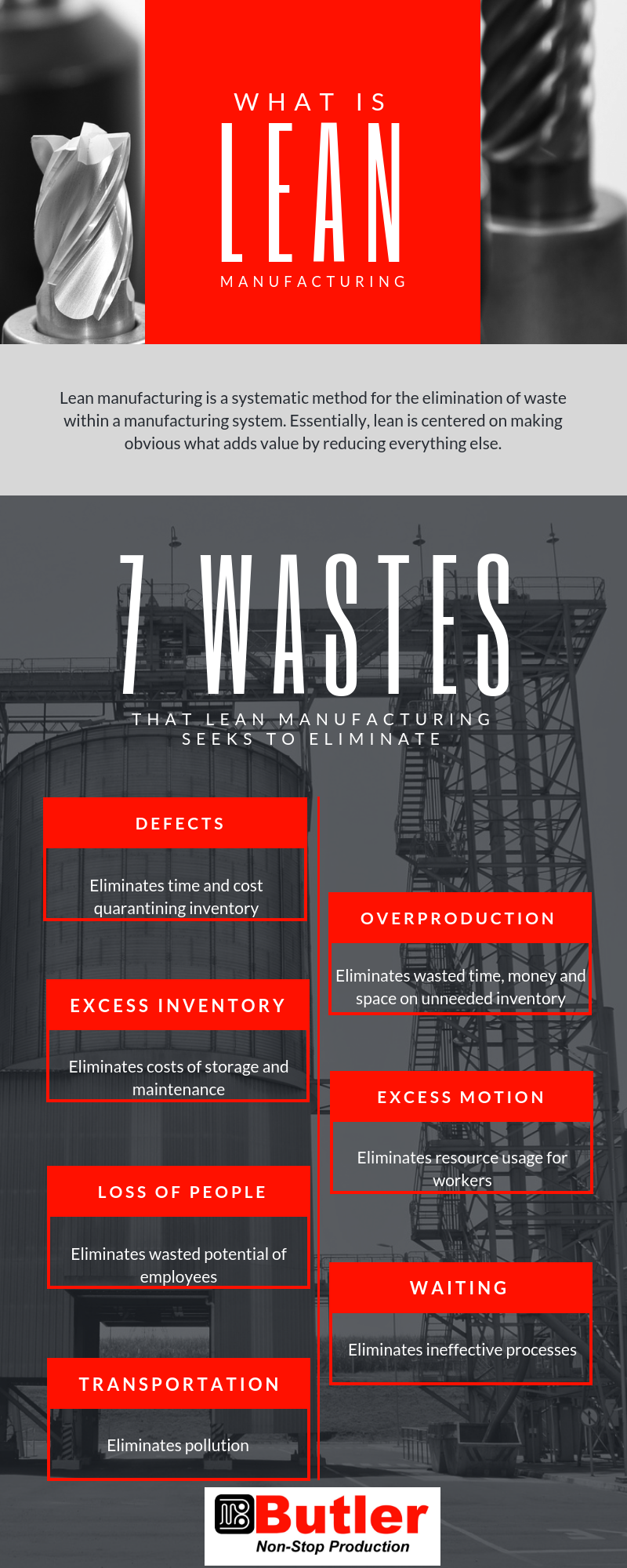 Eliminating these wastes has brought added value to our customers in many tangible ways.