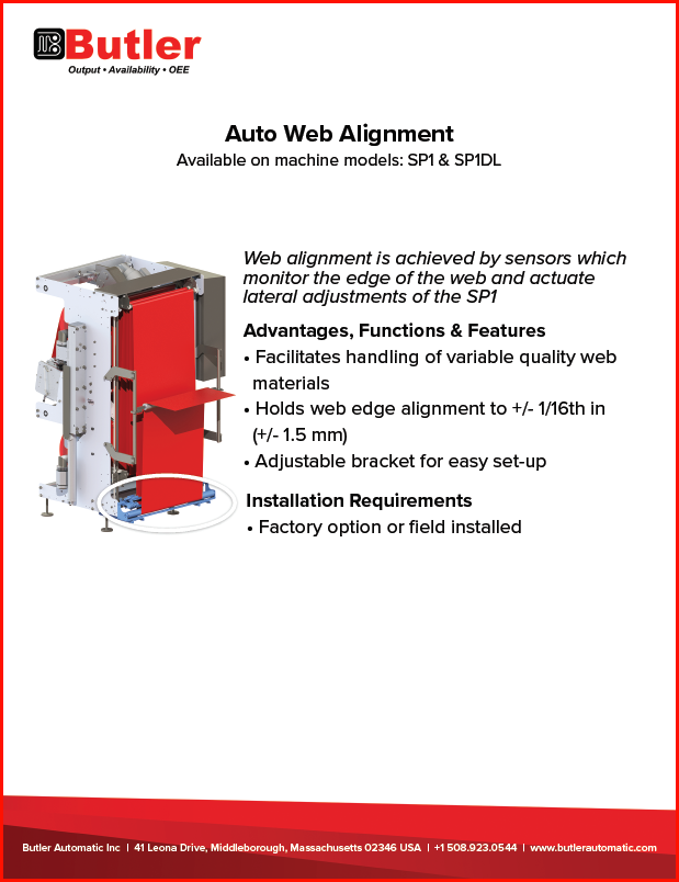 Butler Automatic Auto Web Alignment System