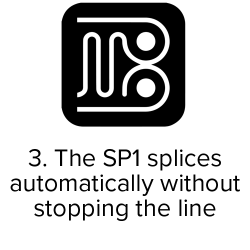 Butler Automatic SP1 automatically splices without stopping the line